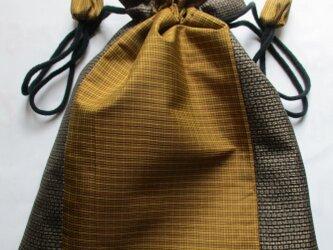 4835 泥大島紬で作った巾着袋 #送料無料の画像