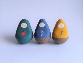 ひとびとの起き上がりこぼし(大)・それぞれ一点もの【福島の伝統工芸品】の画像