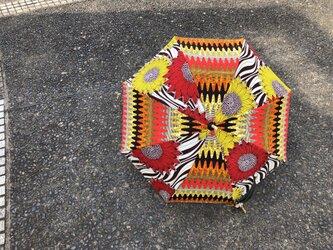 e121-アフリカ布日傘の画像