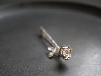 薔薇ブローチ silverの画像