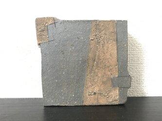 焼締&泥彩掛け分け角鉢 兼 角台皿(旧作sale価格)の画像