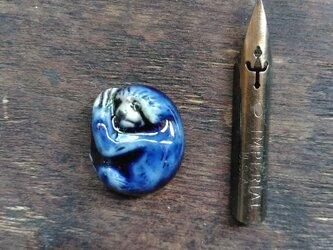 動物石 ナマケモノ(紺色)の画像