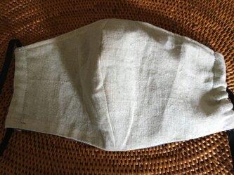 立体マスク 麻生地布帛ベージュM の画像