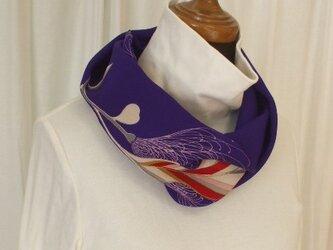 アンティーク着物錦紗縮緬からのスヌード 絹の画像