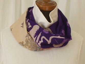 アンティーク着物からのスヌード 絹の画像