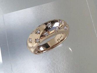 K18PGダイヤリングの画像