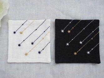 流れ星のコースター Black&White 2枚セットの画像