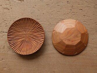 【再入荷】ハツリ小皿(チェリー|オイル・蜜蝋仕上げ)の画像
