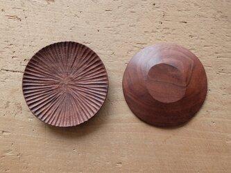 【再入荷】ハツリ小皿(ウォールナット|オイル・蜜蝋仕上げ)の画像
