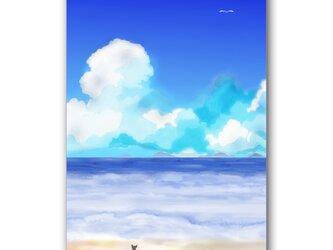 「キミに逢いに来たよ~」 ほっこり癒しのイラストポストカード2枚組 No.1050の画像