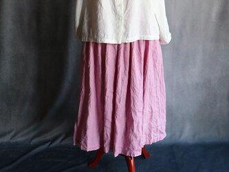 草木染ギャザースカートピンク#2009の画像