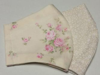 シルクマスク2枚セット~花柄の画像
