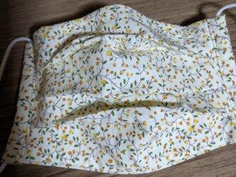 夏用!綿生地でプリーツマスク女物 フィルターポケット付きの画像