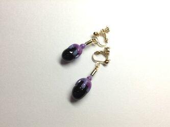 ヘタ紫なすイヤリングーKaga Vegetables Accessoriesの画像