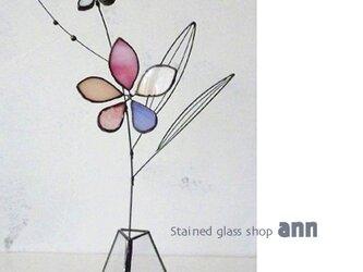 ステンドグラス フラワー200502Pの画像