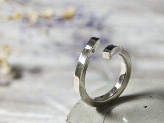 鏡面 シルバーフラットリング フリーサイズ 2.5mm幅 ミラー シルバー950|SILVER RING 指輪 シンプル|246の画像