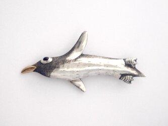 ペンギンのブローチの画像
