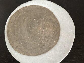 焼締&灰志野小皿「月」(13㎝)(旧作ssle価格)の画像