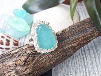 【15号】silver925  seaglass ringの画像
