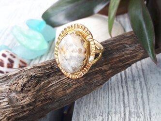【14号】crazylace agate ringの画像