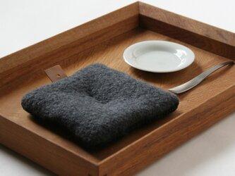 Pot Mat [ブルーグレー]ウールの画像