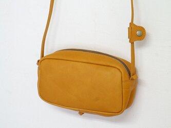 鳴革CAMEL・2WAY機能ポシェット◎内装キーホルダー付き:ポケット機能充実しています。の画像