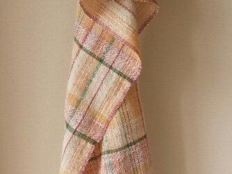 【手織り】木綿のストール#13の画像