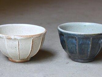 hs-06 灰青彩面取飯碗(写真右)の画像
