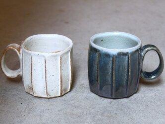 kk-07 黄粉引面取カップ(写真左)の画像