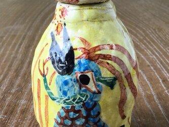 コロナをパクパク食っちゃう アマビエ 小壺 の画像