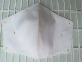 マスククリップ オフホワイト 合皮 立体 布フィルター付きの画像