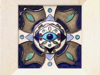 七宝額絵 「イーブルアイ」~魔よけの目~の画像
