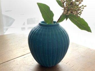 2 花瓶 ターコイズブルーの画像