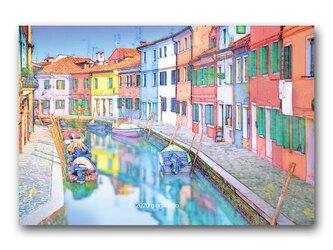 「のほほ~んが散歩する街並み」 ほっこり癒しのイラストポストカード2枚組 No.1051の画像