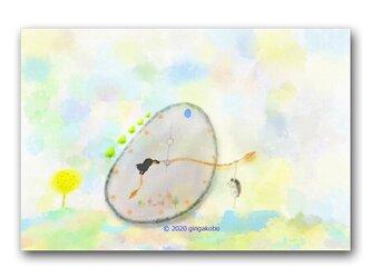「時間遊び」 ほっこり癒しのイラストポストカード2枚組 No.1052の画像