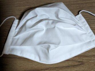 夏用!綿生地でプリーツマスク男女兼用 フィルターポケット付き の画像
