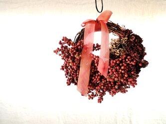 ペッパーベリーのリース ■ Abundance ■ ピンク(ナチュラル)の画像