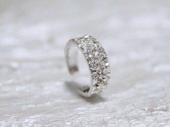 細氷ダイヤモンドダストイヤーカフsilver925の画像