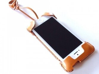 iPhone 5s cawa wallet jacket+/飴色の画像