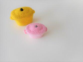小さなお鍋 小物入れ ピンクの画像