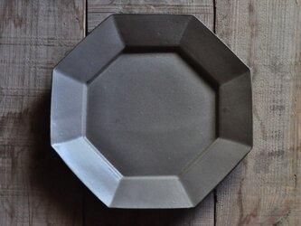 オクタングルリムプレート8寸/グレーの画像