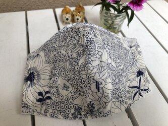 涼しいガーゼの立体マスク(花柄A)の画像