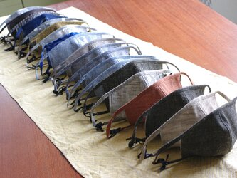 Yuko様オーダー品 久留米絣のマスク3枚セットの画像