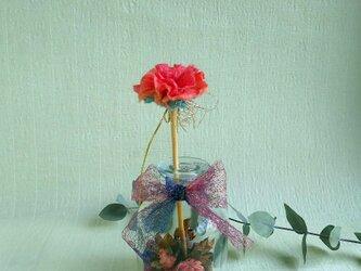 手漉き和紙花リードディフューザースティック  カーネーションの画像