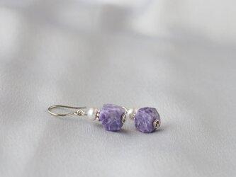 Purple&Silver Pierceの画像