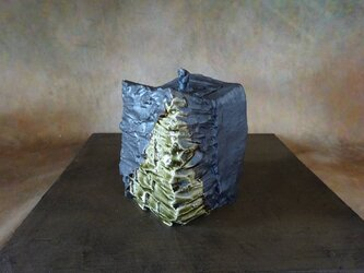 緑釉&黒釉香炉1の画像