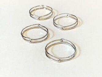 Kasane指輪 ピンクシルバー X10金イエローゴールドの画像