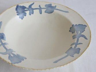 染付け丸リム皿(菜の花)の画像
