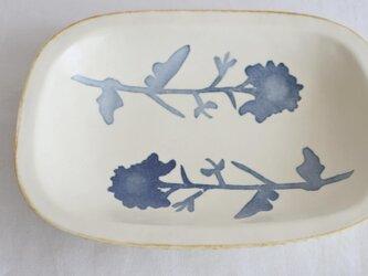 染付けリム皿 (菜の花)の画像