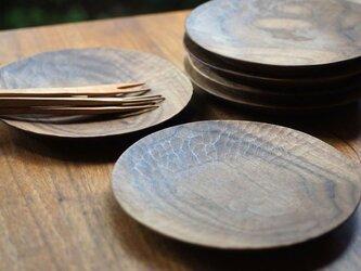 丸皿(Φ180)ウォールナットの画像